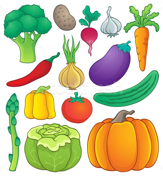 Vegetable theme collection 1 Stock photo © clairev