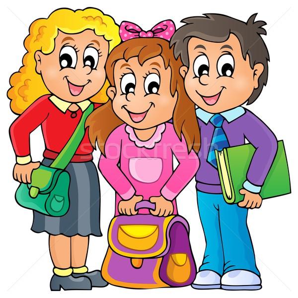 изображение улыбка детей книга школы дизайна Сток-фото © clairev
