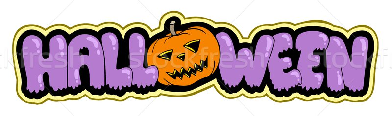 Foto stock: Halloween · assinar · abóbora · arte · cor · férias