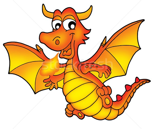 Cute red dragon Stock photo © clairev