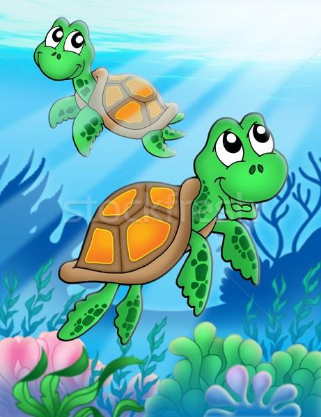 Pequeno mar cor ilustração natureza Foto stock © clairev