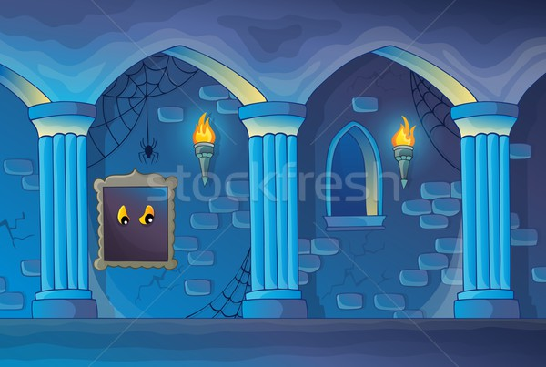 Haunted castle interior theme 1 Stock photo © clairev