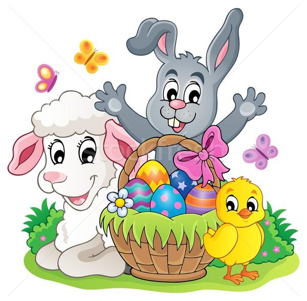 Easter basket theme image 5 Stock photo © clairev
