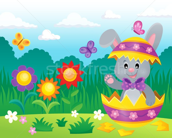 Easter bunny in eggshell theme image 3 Stock photo © clairev