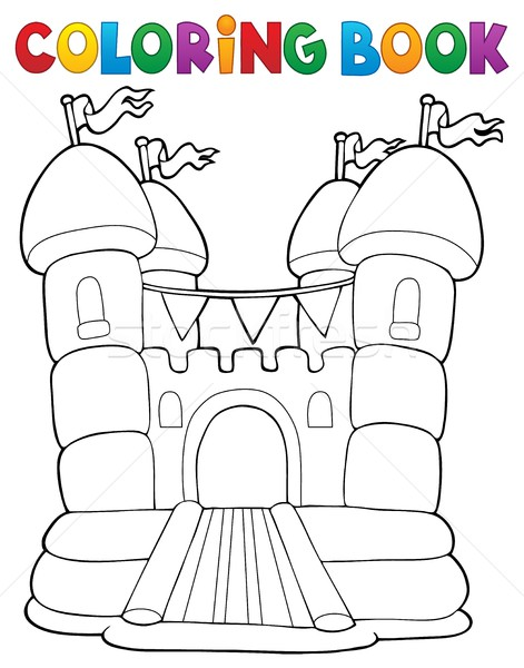 Coloring book inflatable castle Stock photo © clairev