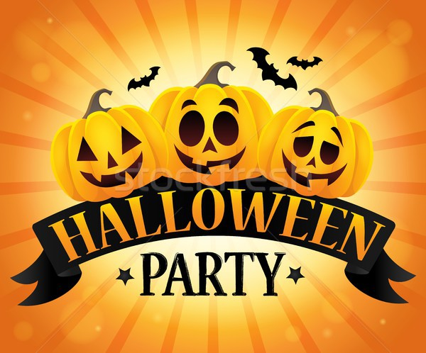 Halloween party sign topic image 6 Stock photo © clairev