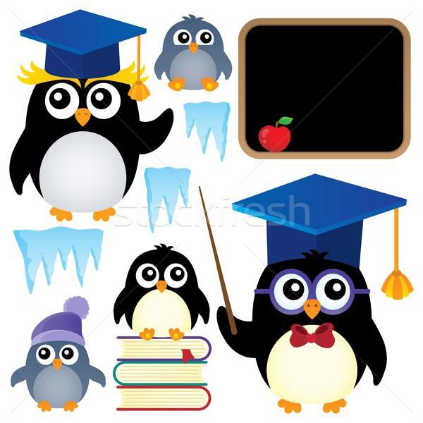 School penguins theme set 1 Stock photo © clairev