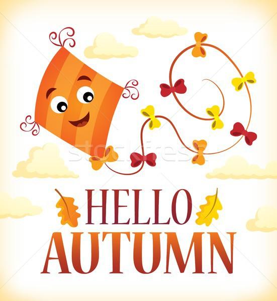 Hello ősz kép játék felhő játék Stock fotó © clairev