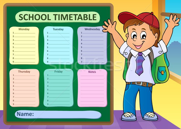 Weekly school timetable design 6 Stock photo © clairev