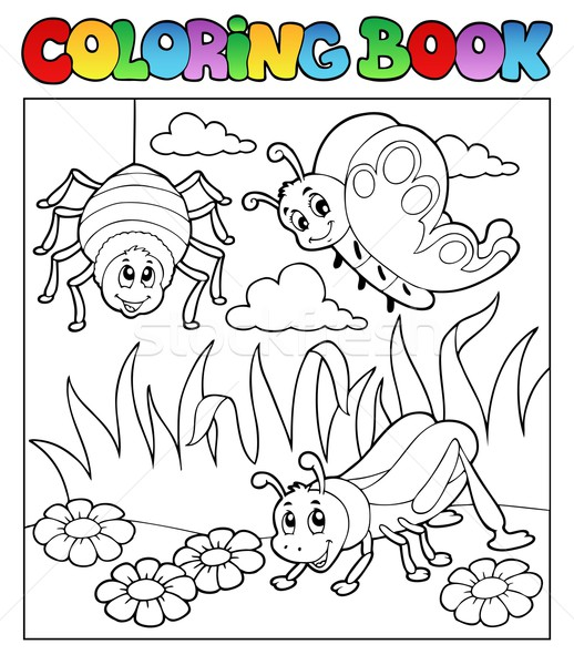 Coloring book bugs theme image 1 Stock photo © clairev