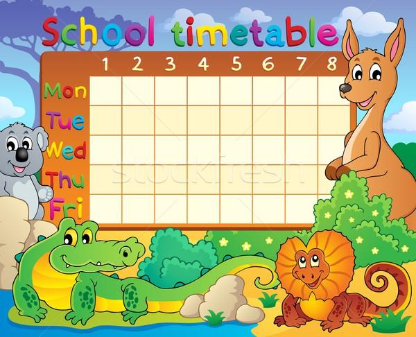 School timetable theme image 8 Stock photo © clairev