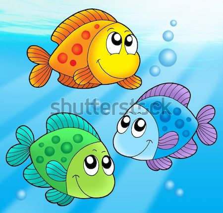 Stock photo: Cute color fishes