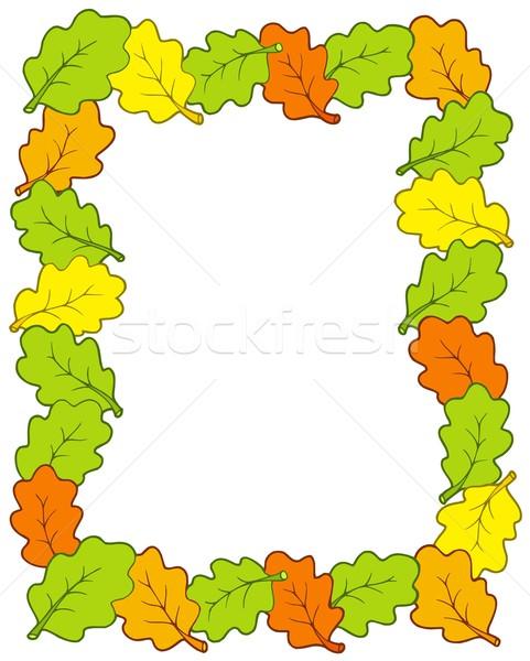 Quadro carvalho folhas arte verde cor Foto stock © clairev
