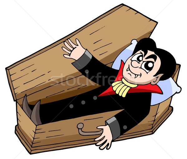 Vampire in coffin Stock photo © clairev
