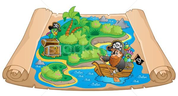 Treasure map topic image 1 Stock photo © clairev