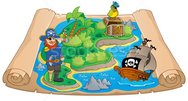 Treasure map topic image 7 Stock photo © clairev