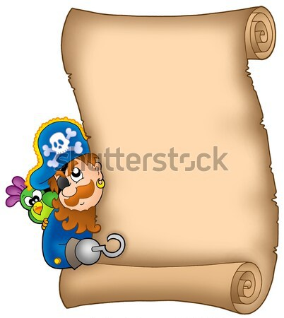 Old parchment with pirate octopus Stock photo © clairev