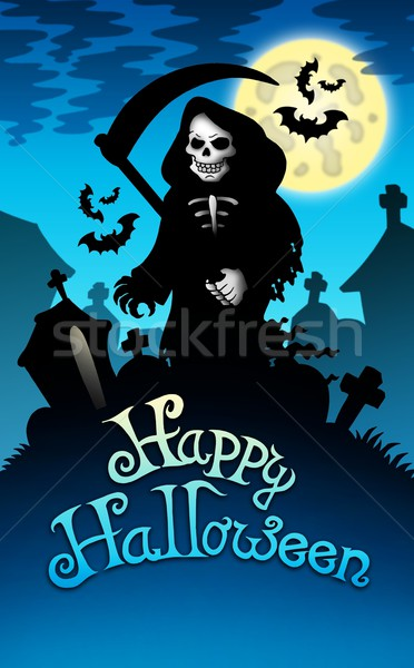 Halloween image with grim reaper Stock photo © clairev