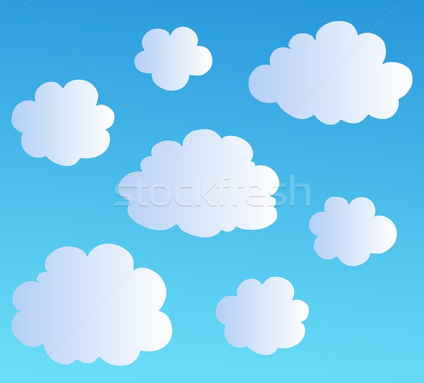 Cartoon clouds collection 3 Stock photo © clairev