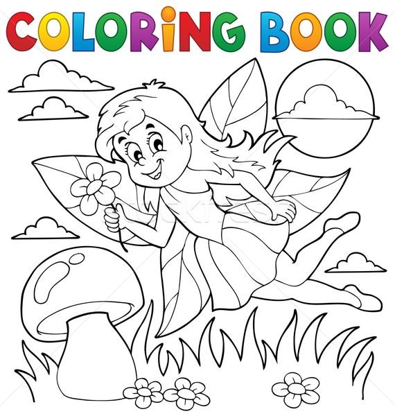 книжка-раскраска фея книга краской красоту искусства Сток-фото © clairev