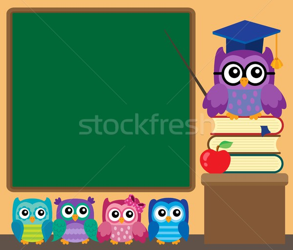 Owl teacher and owlets theme image 1 Stock photo © clairev