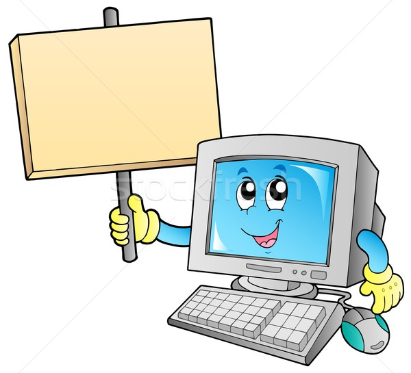 Desktop computer with blank board Stock photo © clairev
