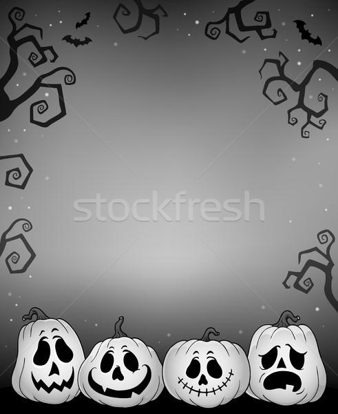 ハロウィン カボチャ 画像 顔 背景 1泊 ストックフォト © clairev