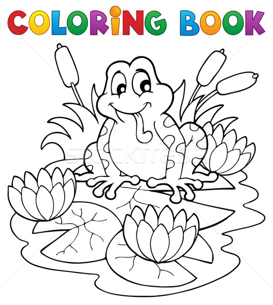 Coloring book river fauna image 2 Stock photo © clairev