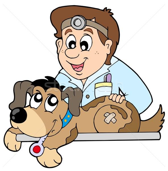 Kutya állatorvos orvosi művészet segítség állat Stock fotó © clairev