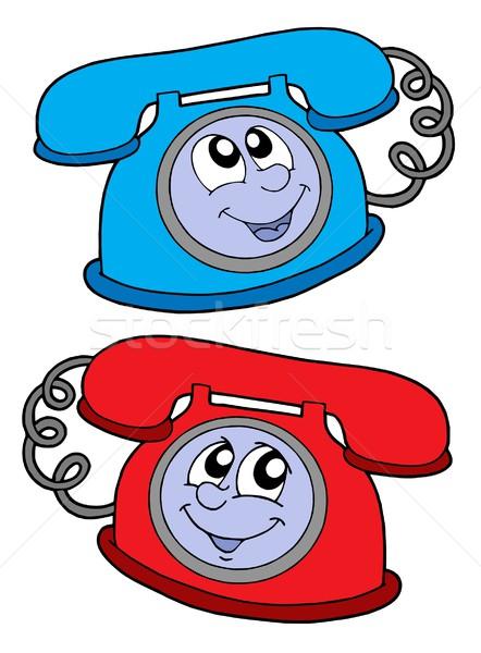 Cute telephones vector illustration Stock photo © clairev