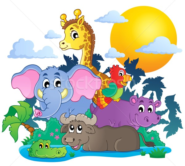Cute African animals theme image 7 Stock photo © clairev