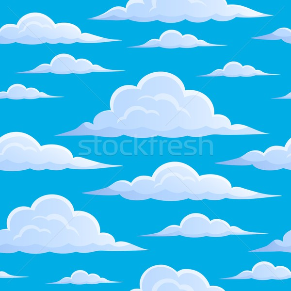 Clouds on blue sky seamless background 1 Stock photo © clairev