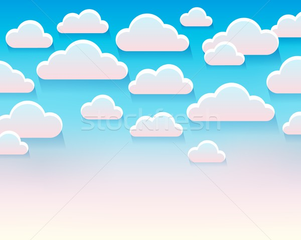 Stylized clouds theme image 5 Stock photo © clairev