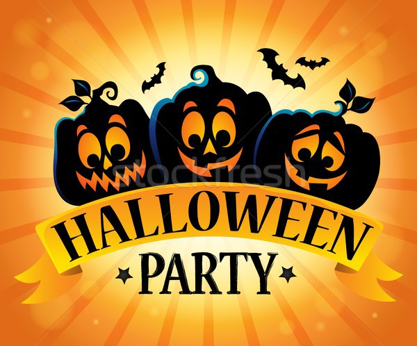 Stock fotó: Halloween · buli · felirat · téma · kép · arc