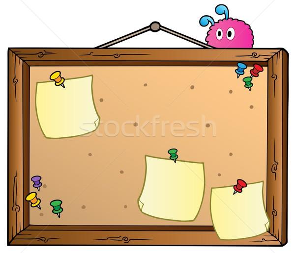 Cartoon bulletin board Stock photo © clairev