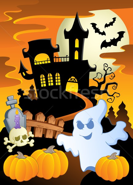 Scene with Halloween theme 5 Stock photo © clairev