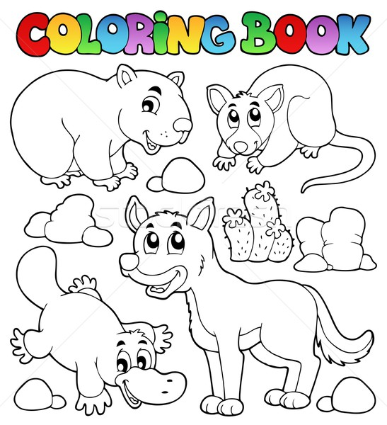 Coloring book Australian fauna 1 Stock photo © clairev