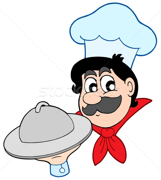 Cartoon chef with dish Stock photo © clairev
