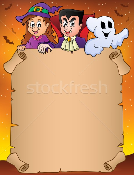 Parchment with Halloween topic 9 Stock photo © clairev