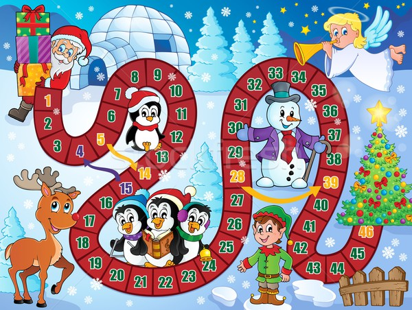 Board game image with Christmas theme 1 Stock photo © clairev