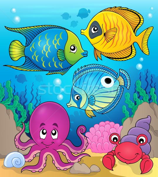 Korall állatvilág kép természet tenger óceán Stock fotó © clairev