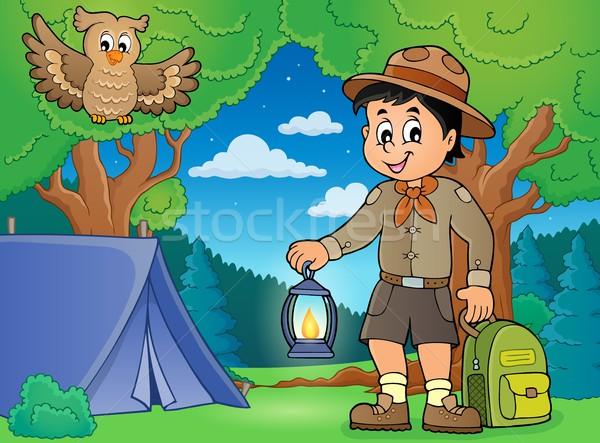 Scout boy theme image 4 Stock photo © clairev