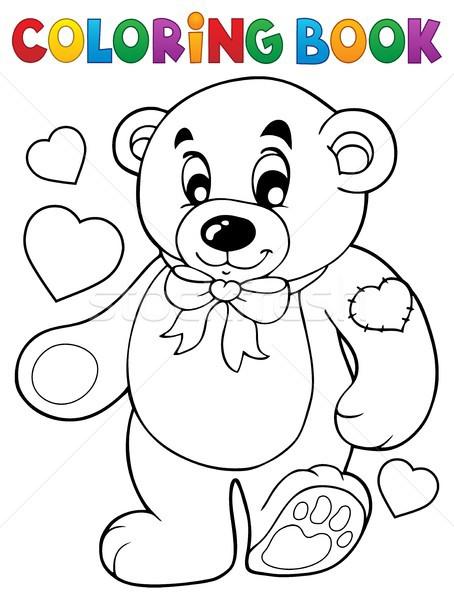 Boyama Kitabı Oyuncak Ayı Kitap Mutlu Kalp Ayı