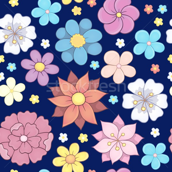 Seamless background flower theme 6 Stock photo © clairev