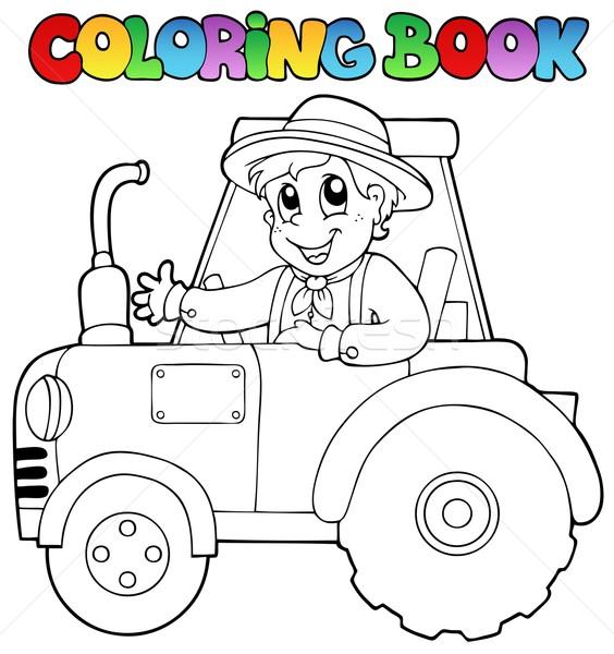 Boyama Kitabı çiftçi Traktör Gülümseme Kitap Boya