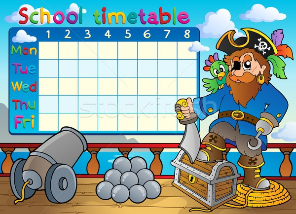School timetable thematic image 3 Stock photo © clairev