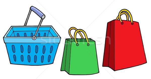 Alışveriş sepeti çanta dizayn alışveriş depolamak sepet Stok fotoğraf © clairev
