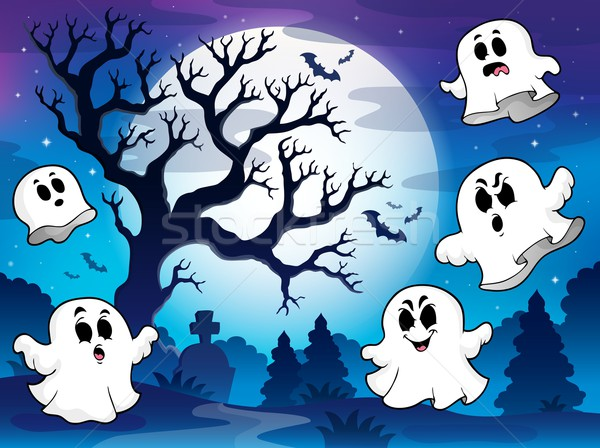 Spooky tree theme image 9 Stock photo © clairev