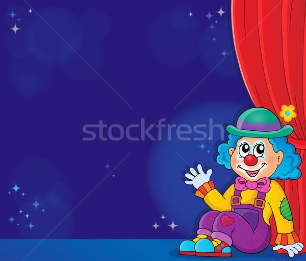 Sitting clown theme image 5 Stock photo © clairev