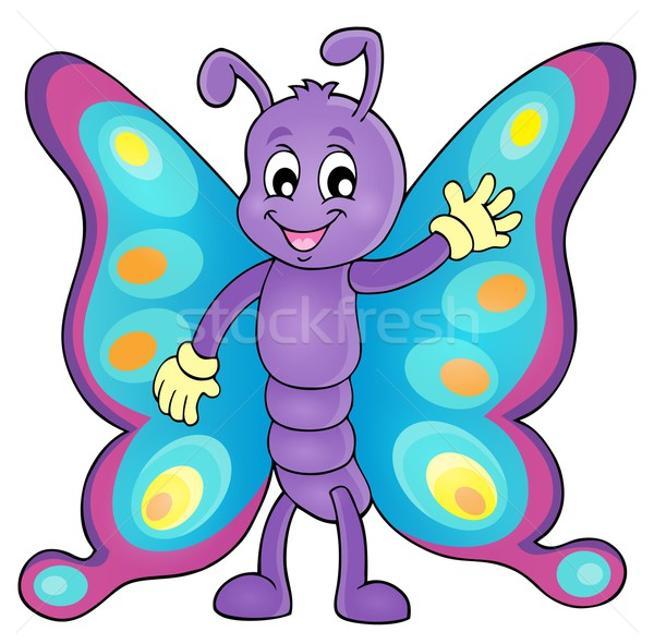 Cheerful butterfly theme image 1 Stock photo © clairev